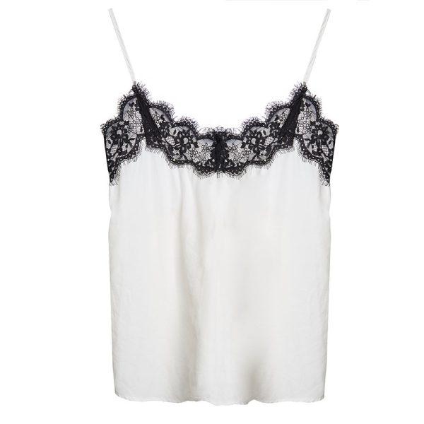 Camisole Wit Zwart Lace