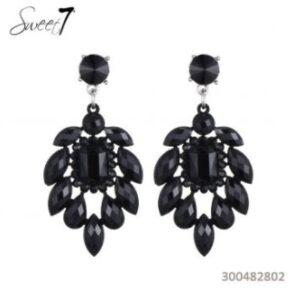 Oorbel Kristal Zwart