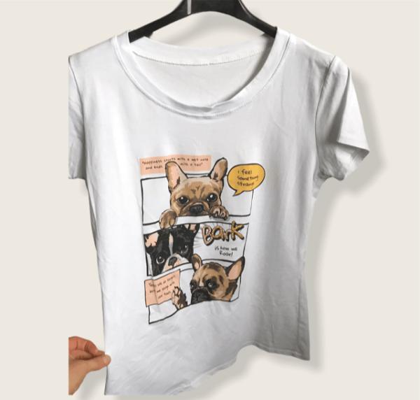T Shirt Franse Bulldog